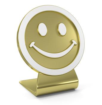Smile Face Golden Icon